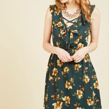 Late-Night Dinner Date Floral Dress | Mod Retro Vintage Dresses | ModCloth.com