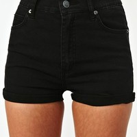 Highway Denim Shorts - Black