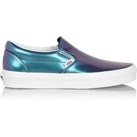 Vans | Holographic leather slip-on sneakers | NET-A-PORTER.COM