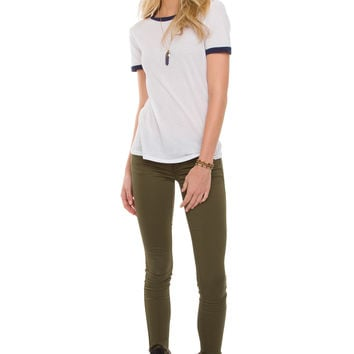 Claudia Skinny Lifter Jeans - Olive