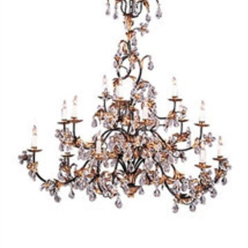 Frederick Cooper | Gold and Crystal  Chandelier