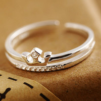 women retro crown ring girl unique 925 sterling silver adjustable ring + gift box + free shipping 249