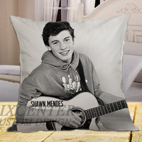 The Shawn Mendes Guitar Music on square pillow cover 16inch 18inch 20inch