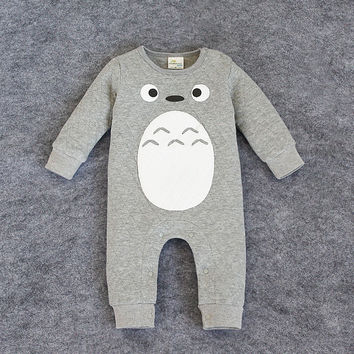 2015 new baby clothing Totoro rompers for newborns body suit kids clothes boys girls jumpsuit baby romper cotton infant clothing