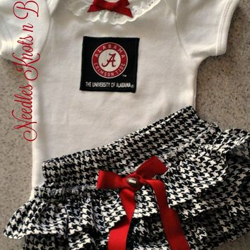Girls Alabama Crimson Tide Outfit, Baby Girls Coming Home Outfit, Game Day