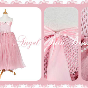 Pink Vintage Princess Sleeping Beauty Fancy Dress - Flower Girls Bridesmaid Dress - Aurora Tutu Dress -  Age 2 3 4 5 6 7 8 9 10 11 12