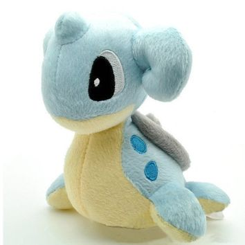 "Pokémon Pokemon Plush Lapars Doll Around 15cm 6"" Blue, Free"
