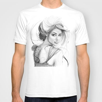Beautiful Fairy Drawing T-shirt by Olechka