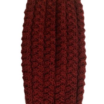 Wine Hand-knitted Jumper