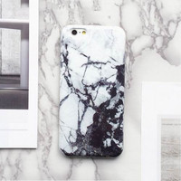 Black White 2017 Marble Texture Hard Case Phone Case For iPhone 7 7Plus 6 6s Plus 5 5s SE