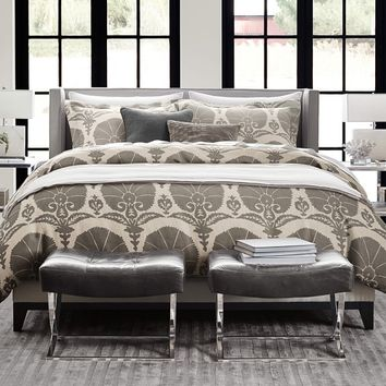 Printed Ottoman Floral Linen Bedding