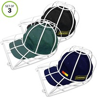 Evelots Ball Cap Washer for Washing Machines-Dish Washer-Visor Hat Cleaner-Set/3