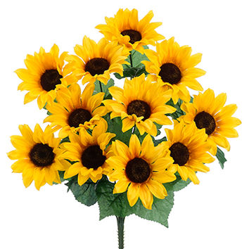 Silk Sunflower Bushes | Silk Sunflower Stems | Afloral