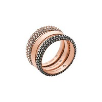 Pavé Rose Gold-Tone Ring Stack | Michael Kors