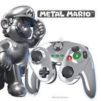Wired Fight Pad - Metal Mario - Nintendo Wii / Wii U