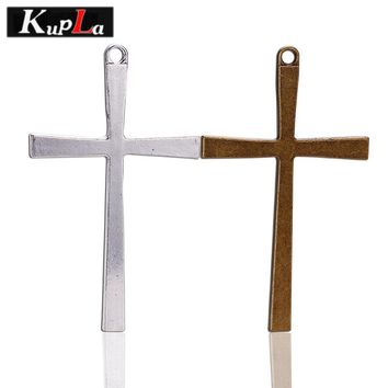 Kupla Religious Simple Cross Charms for Diy Jewelry Making Vintage Metal Zinc Alloy Crosses Pendant Charms 20pieces/lot C5437