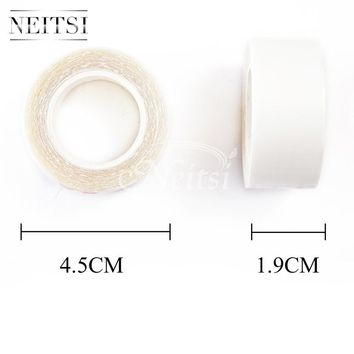 Neitsi 1.9cm 3 YardsSuper Glue Tape For Hair Extensions Double Sided 1PC White Lace Front Support Tape/Glue Fast Shipping