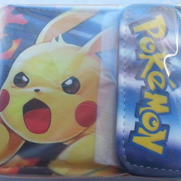 Brand New Japan Anime Video Game pokemon Pikachu Cosplay Leather wallet