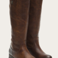 Frye Melissa Button Dark Brown