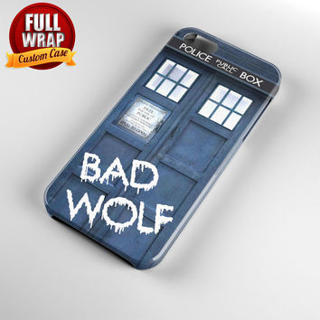 Tardis Dr Who Bad Wolf Full Wrap Phone Case For iPhone, iPod, Samsung, Sony, HTC, Nexus, LG, and Blackberry