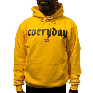 Everyday FAZE Champion Hoodie in gold