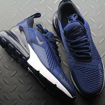 Nike Air Max 270 AH8050-400 Midnight Navy Sport Running Shoes