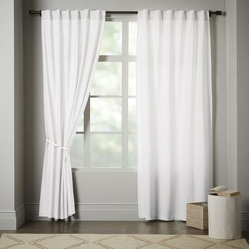 Linen Cotton Curtain - Stone White