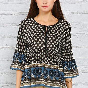 Multi-Patterned Casual Top