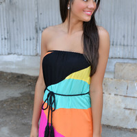 Rainbow Sherbert Maxi Dress