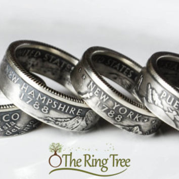 Silver State Quarter Ring (.900)