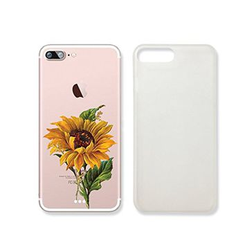 Sunflower Pattern Slim Iphone 7 Case, Clear Iphone 7 Hard Cover Case For Apple Iphone 7 -Emerishop (VAE307.7sl)
