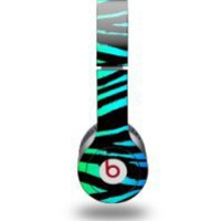 My Associates Store - Rainbow Zebra Decal Style Skin (fits Beats Solo HD Headphones)