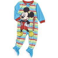 Mickey Mouse Newborn Infant Baby Boy Footed Blanket Sleeper - Walmart.com