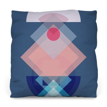 Geometric Play Throw Pillow