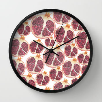 pomegranate Wall Clock by Austeja Saffron