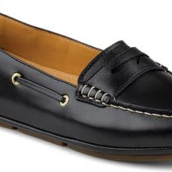 Sperry Top-Sider Gold Cup Penny Driver BlackLeather, Size 6M  Women's