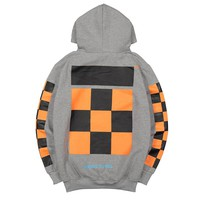 Offwhite  Women Men Fashion Casual Edgy Pattern Hooded Top Sweater Pullover