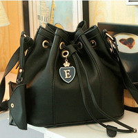 New Black & White Women Handbag Shoulder Bags Tote Purse PU Leather Messenger Hobo Bag #mgsu.inc.# = 1837911428