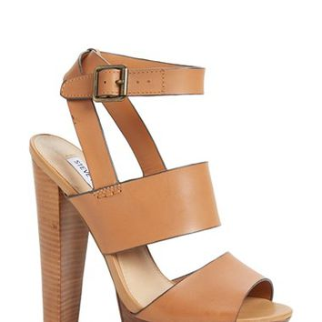 "Women's Steve Madden 'Dezzzy' Leather Ankle Strap Sandal, 6"" heel"