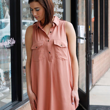 Salmon Vest Dress - FINALE SALE NO RETURNS NO EXCHANGES