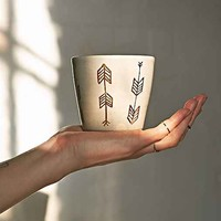 Pickle Pottery Arrow Cup- Grey One