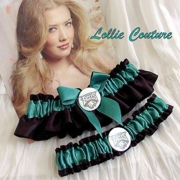 NFL Philadelphia Eagles Garters  2 piece set by lolliecouture