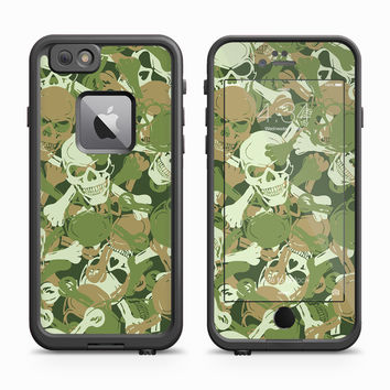 Traditional Camouflage Skull Crossbones Skin for the Apple iPhone LifeProof Fre Case