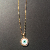 Evil Eye Nazar Bad Eye Necklace white