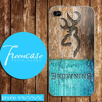 browning deer on wood mint case for iphone 4 case,iphone 4s case, iphone 5 case, iphone 5s case, iphone 5c case