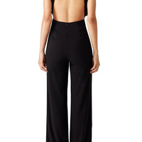 Misha Collection Black Open Neck Jumpsuit