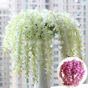 Classic  Romantic Artificial Wisteria Silk Flower Home Party Wedding Garden Floral Decoration = 1931825796