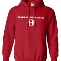 Canadian Girls Kick Ass Pride Beer Proud Olympic Team Military hockey support Hoodie Hooded Sweatshirt Mens Ladies swag tv Canada Day ML-262