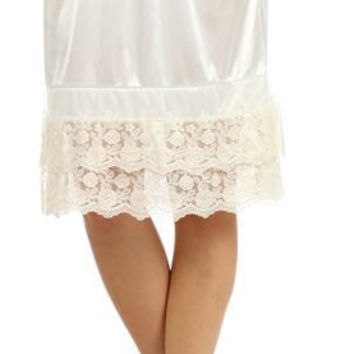 Lace Skirt Extender Slips - Longer Length