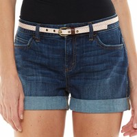 LC Lauren Conrad Relaxed Cuffed Jean Shorts - Women's, Size: